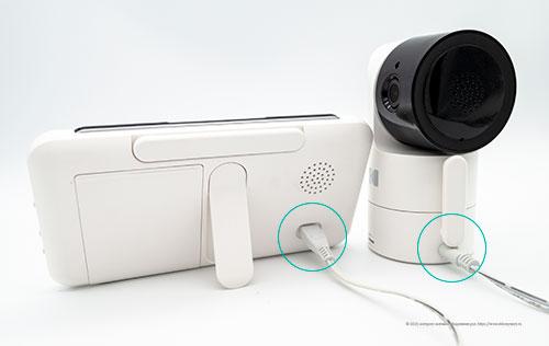 Видеоняня Kodak Cherish C525 - подключение питания