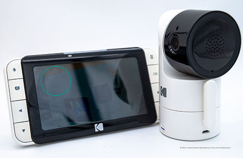 Видеоняня Kodak Cherish C525 - изображение на экране