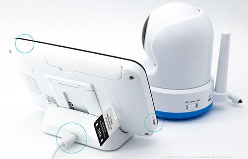 Видеоняня Uni-Life Digismart 1060 - подключение питания к монитору