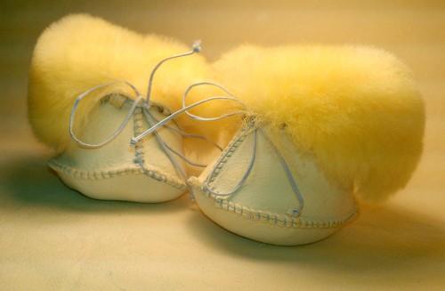 Носочки (пинетки) Ramili Baby Basic из медицинской овчинки