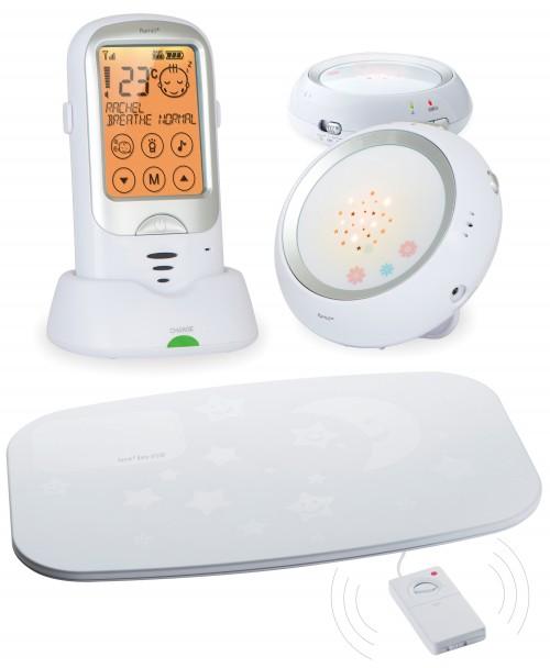 Радионяня с монитором дыхания и двумя детскими блоками Ramili Baby RA300DUOSP