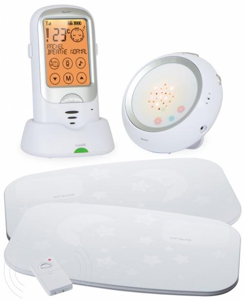 Радионяня Ramili Baby RA300SP2 с расширенным монитором дыхания (двойной монитор дыхания, 650 м прием)