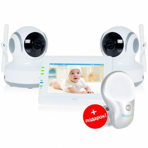 Видеоняня Ramili Baby RV900X2 (2 камеры, удалённый поворот)