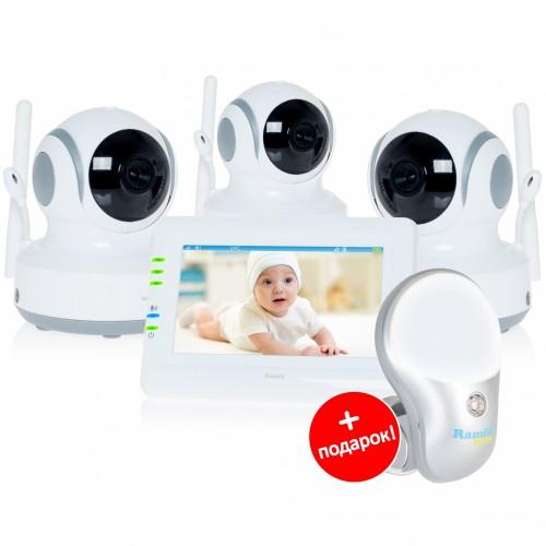 Видеоняня Ramili Baby RV900X3 (3 камеры, автоматическое слежение)