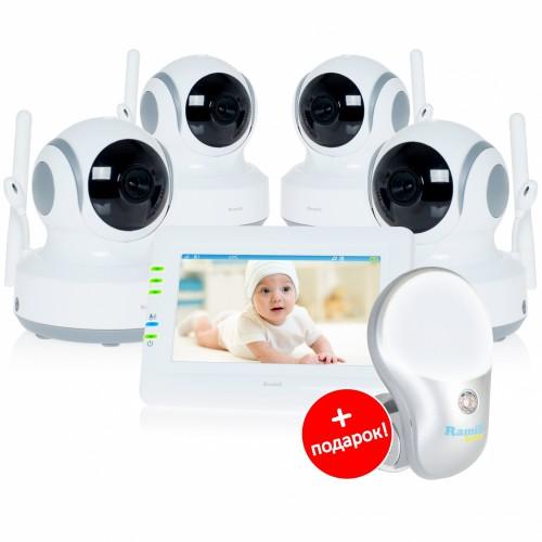 Видеоняня Ramili Baby RV900X4 (4 камеры, сенсорный экран, детектор движения)