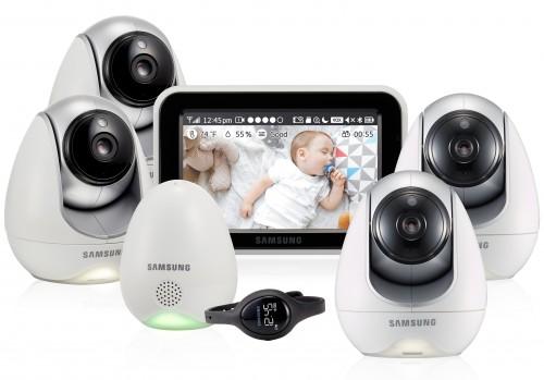 Видеоняня Samsung SEW-3057WPX4 (четыре камеры в комплекте)